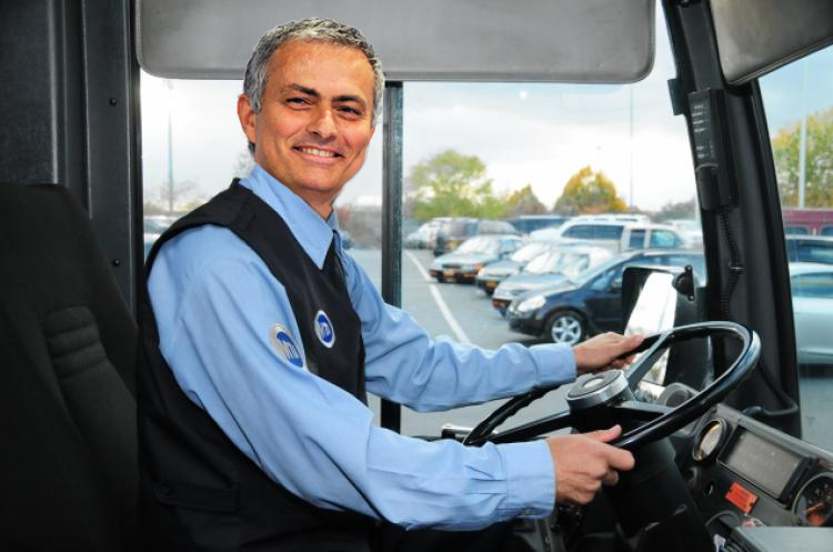 Image result for mourinho bus