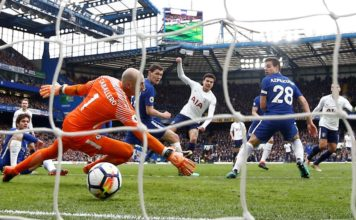 Dele Alli scores at Stamford Bridge